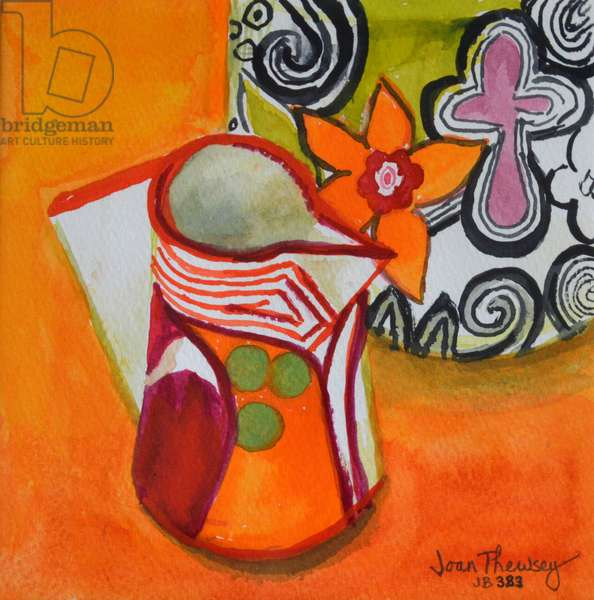 Art Deco Jug and Bowl,2000, (gouache)