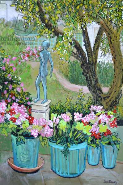 The Statue 'Tilly' in the Garden, 2017,(gouache)