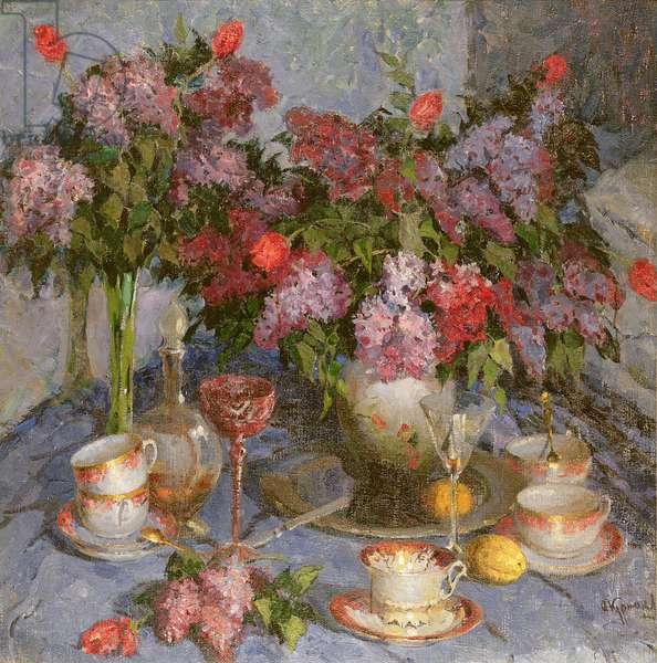 Still Life with Tea Service
