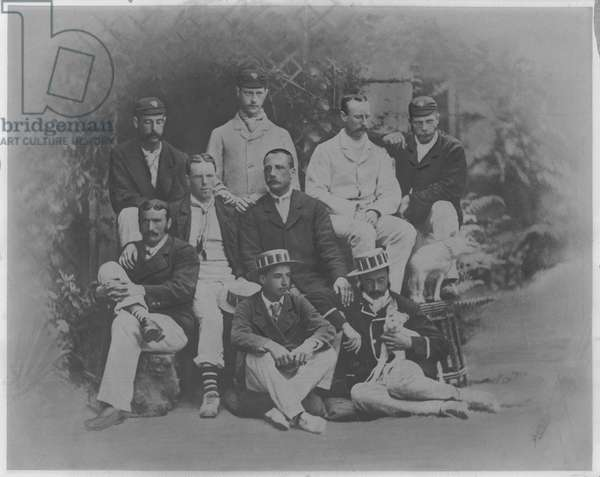 Thames Rowing Club, winners of the Grand Challenge Cup at Henley Royal Regatta, 1879 (b/w photo)