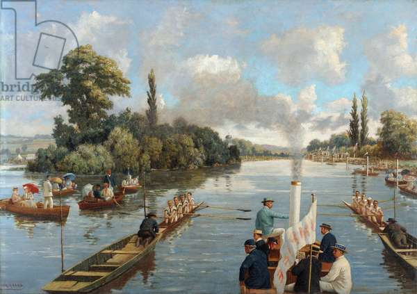 The Start at Henley (oil on canvas)