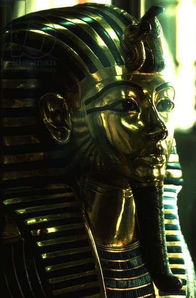 Archeological Museum of Cairo: Tresor of TOUTANKHAMON, Golden Mask of the Pharaoh, 18th Dynasty.