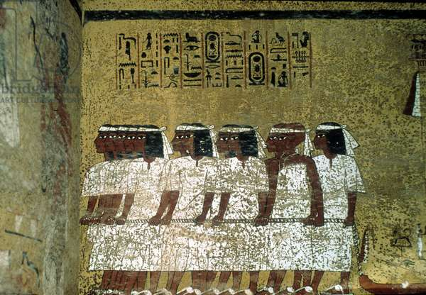 Luxor Thebes: Left bank of the Nile. Valley of the Kings: Tomb of Tutankhamun. 18th Dynasty.