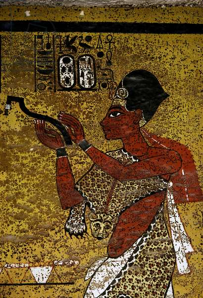 Luxor, Thebes: Left bank of the NIL. Valley of the Kings: Tomb of ALL-ANKH-AMON. Detail of mouth opening. 18th Dynasty.