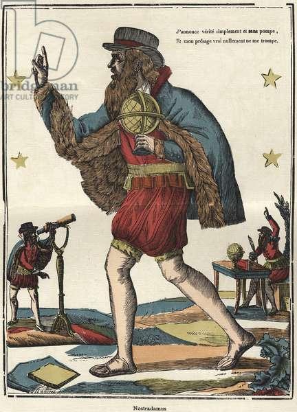 Nostradamus, image of Epinal. 19th century.