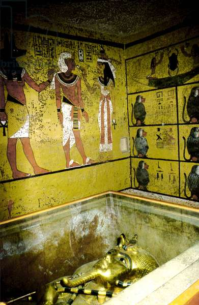 Luxor, Thebes: Left bank of the Nile, Valley of the Kings. Tomb of Tutankhamun. 18th Dynasty.