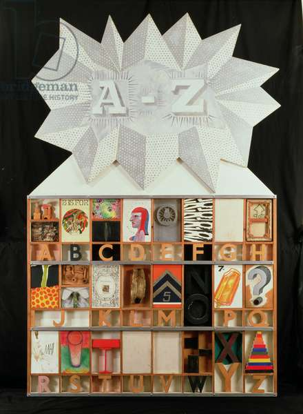 A-Z Box of Friends and Family, 1963 (mixed media)