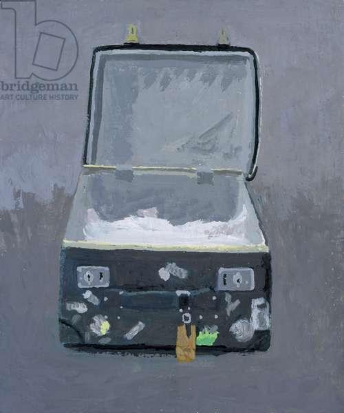 Suitcase, 2007 (gouache on panel)