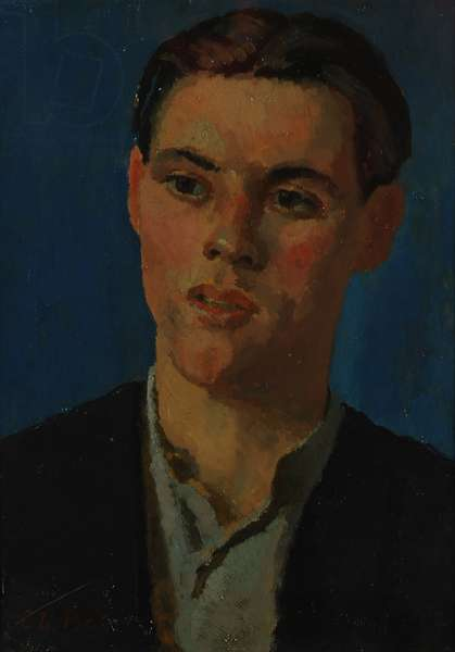 Head of a Boy, 1930-40 (oil on canvas)