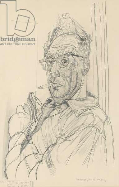 Self-Portrait - Peterborough Joans, 1954 (pencil on paper)