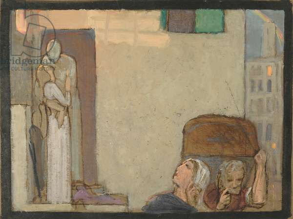 Study for The Farewell, c.1907 (tempera on paper)