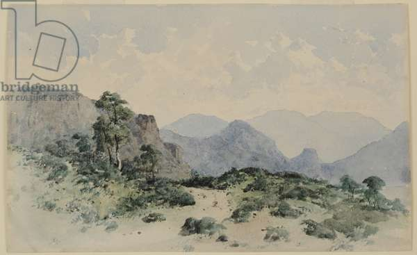 Lake District Fells, Borrowdale, 1840-58 (w/c on paper)