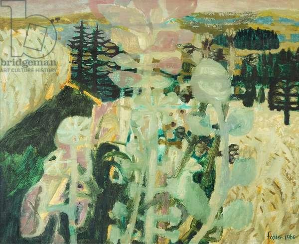 Austrian Landscape, 1960 (oil on canvas)