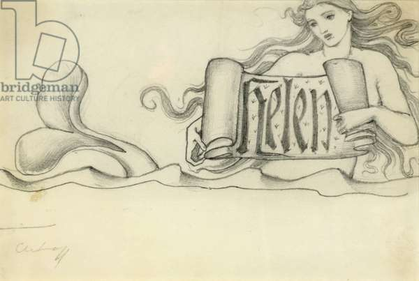 Study for Helen, c.1880 (pencil on paper)