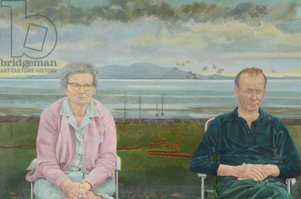 On the Front at Silloth, 1985 (oil on canvas)