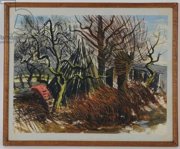 Trees, 1949 (w/c on paper)