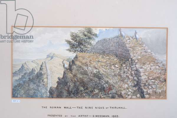 The Roman Wall - The Nine Nicks of Thirlwall, 1880-89 (w/c on paper)