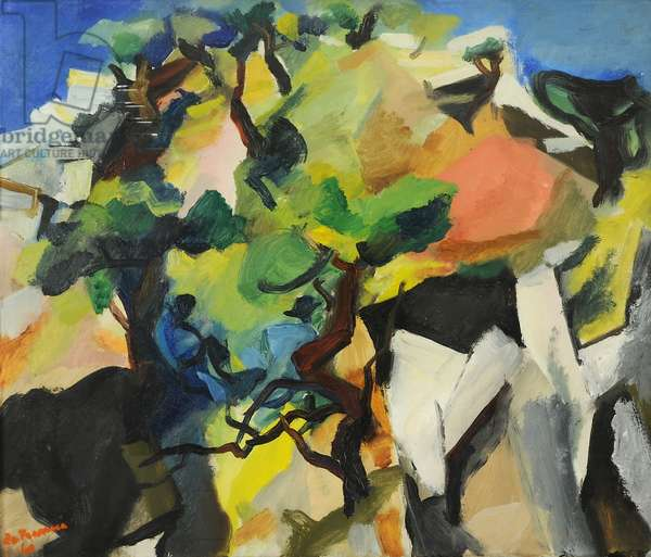 Landscape, 1960 (oil on canvas)
