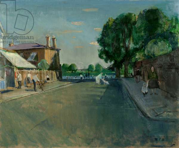 Thames Road, Chiswick, c.1963 (oil on canvas)