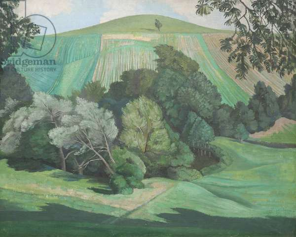 Dorset Landscape, c.1930 (oil on canvas)