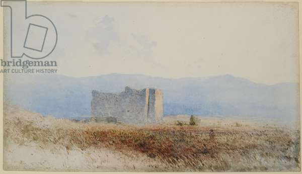 Buit's Castle, near Bewcastle, 1840-58 (w/c on paper)
