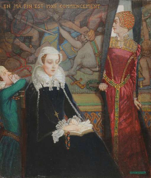 Mary Queen of Scots at Fotheringhay, c.1929 (tempera on canvas)