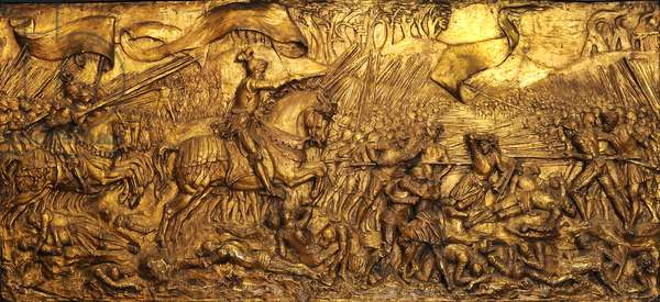 The Battle of Flodden Field, 1881-82 (gilded gesso)