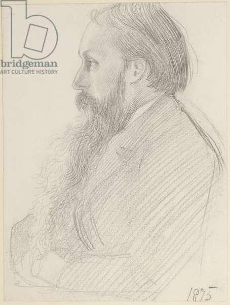 Portrait of Edward Burne-Jones, 1875 (pencil on paper)