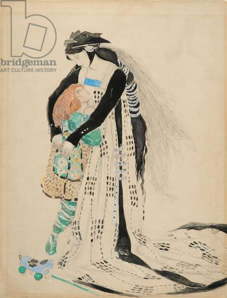 Costume Design for the Death of Tintagiles, 1912 (w/c on paper)