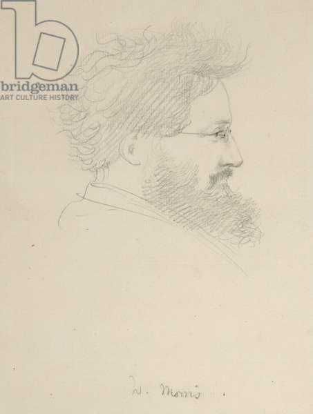 Portrait of William Morris, c.1875 (pencil on paper)