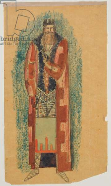 Costume design for King Lear, 1923 (w/c on paper)
