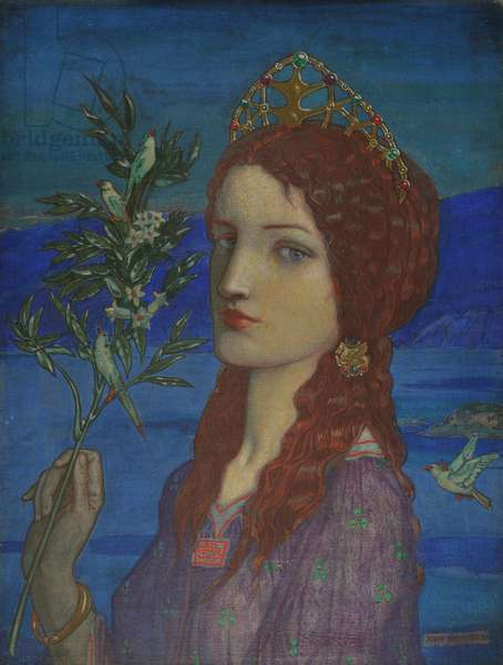 The Messenger of Tethra, 1910 (tempera on canvas)