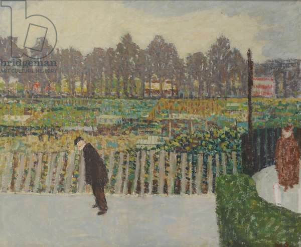 Allotments, c.1948 (oil on canvas)