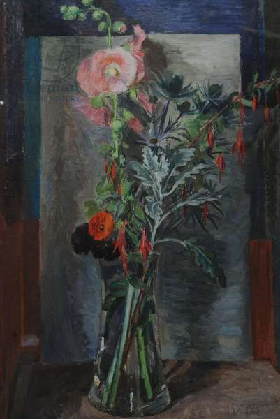 Flowers in a Glass Vase, c.1930 (oil on canvas)