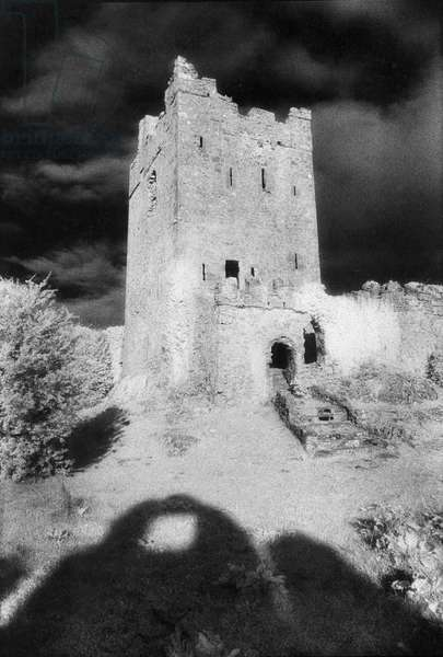 Clonony Castle, County Offaly (b/w photo)