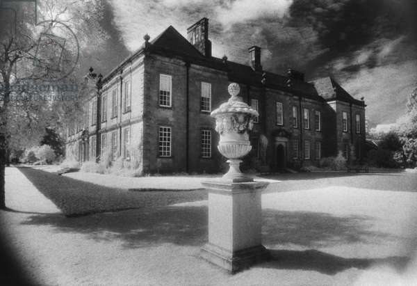 Wallington Hall, Northumberland (b/w photo)