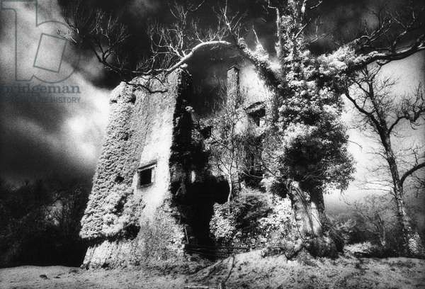 'Old' Castle Hackett, County Galway (b/w photo)
