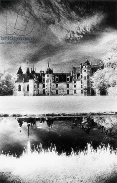 Chateau de Meillant, Loire Valley, France (b/w photo)