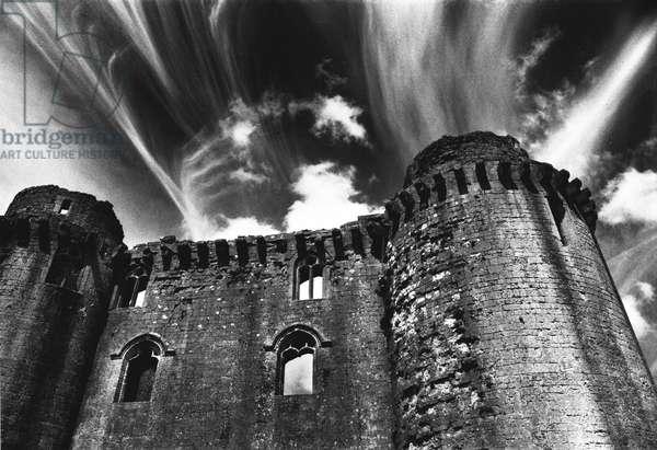 Nunney Castle, Somerset (b/w photo)