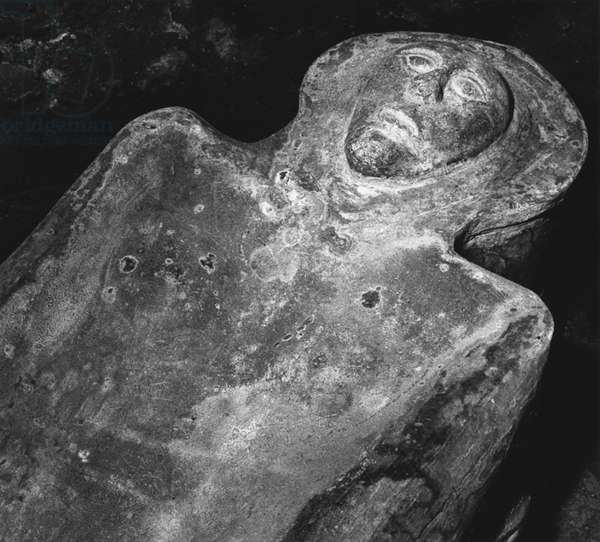 Death Mask, Farleigh Hungerford Castle, Somerset (b/w photo)