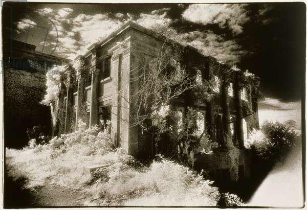 West Wing, Castleboro House, County Wexford, Ireland (b/w photo)