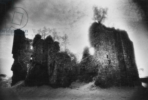 Thirlwall Castle, Northumberland (b/w photo)
