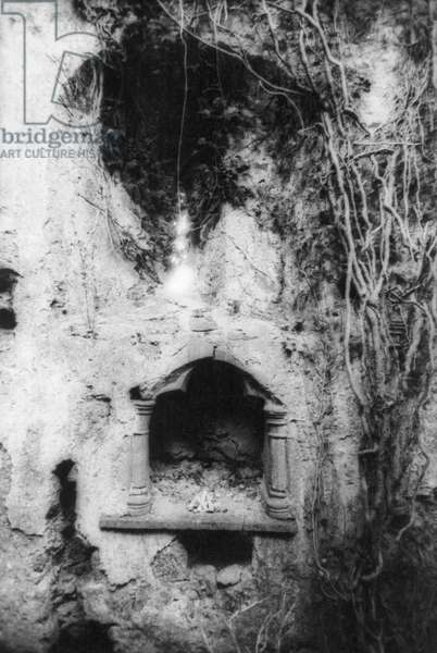 Detail of Manisternagalliaghduff, or 'Old Abbey', County Limerick (b/w photo)