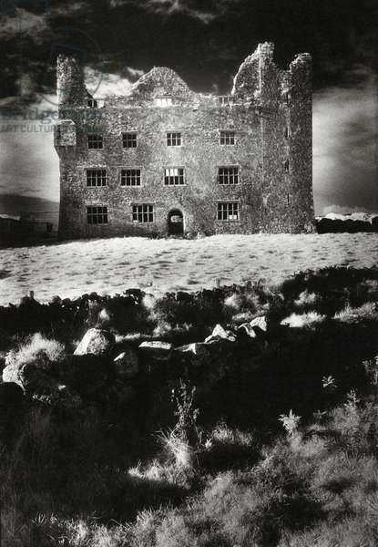 Leamaneagh Castle, County Clare (b/w photo)