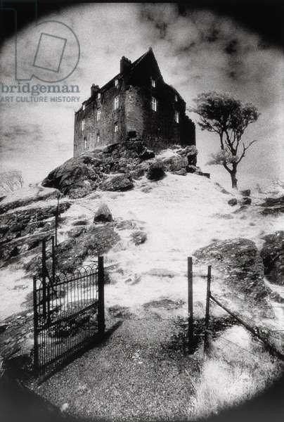Duntroon Castle, Argyllshire, Scotland (b/w photo)
