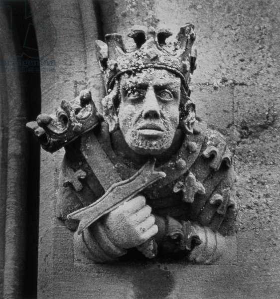 Statue, Toddington Manor, Gloucestershire (b/w photo)