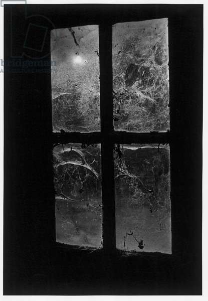 Window, Castle Frankenstein, The Odenwald Valley, Germany (b/w photo)