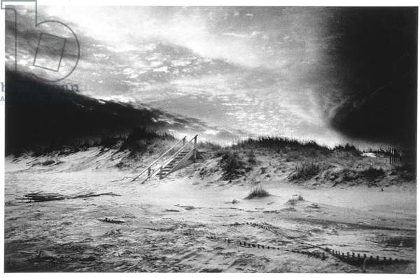 The Beach, Bridgehampton, Long Island, USA (b/w photo)