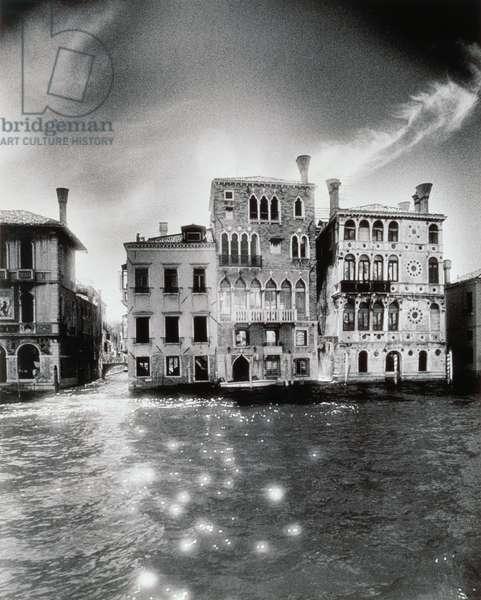 Palazzo Dario, Venice (b/w photo)