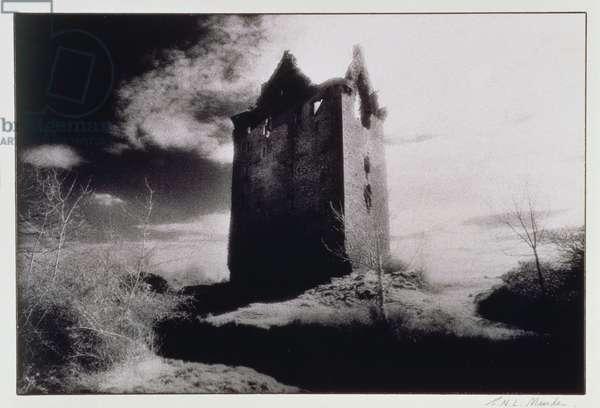 Danganbrack Tower, County Clare, Ireland (b/w photo)
